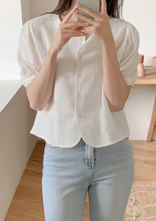 All The Time In The World Button Blouse