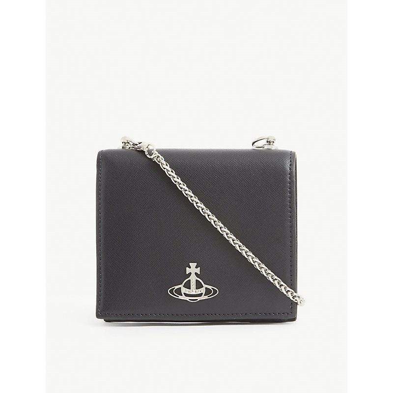 Debbie leather wallet-on-chain