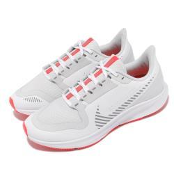 Nike 慢跑鞋 Pegasus 36 Shield 女鞋 氣墊 舒適 避震 路跑 防潑水 運動 白 銀 AQ8006100 [ACS 跨運動]