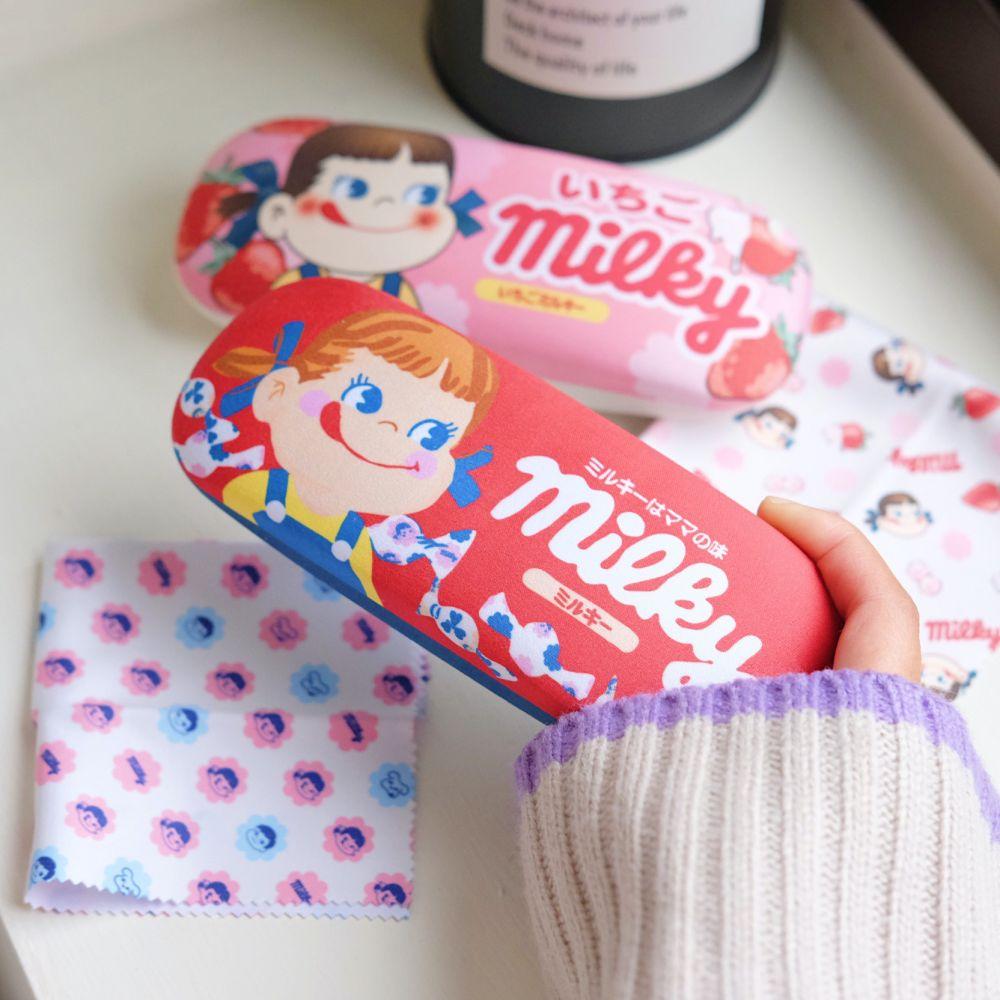 《不二家Peko》日本商品 牛奶妹眼鏡盒 收納盒 飾品盒 ペコちゃん