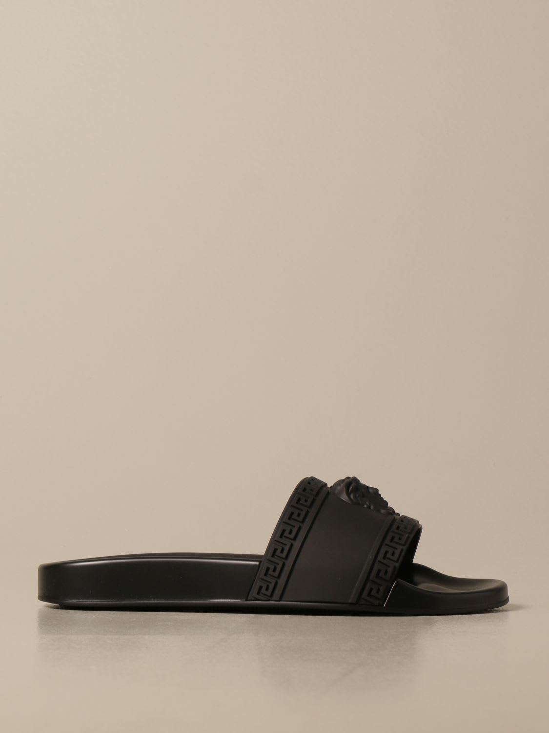 Versace Sandals Palazzo Versace Rubber Sandal With Medusa Head