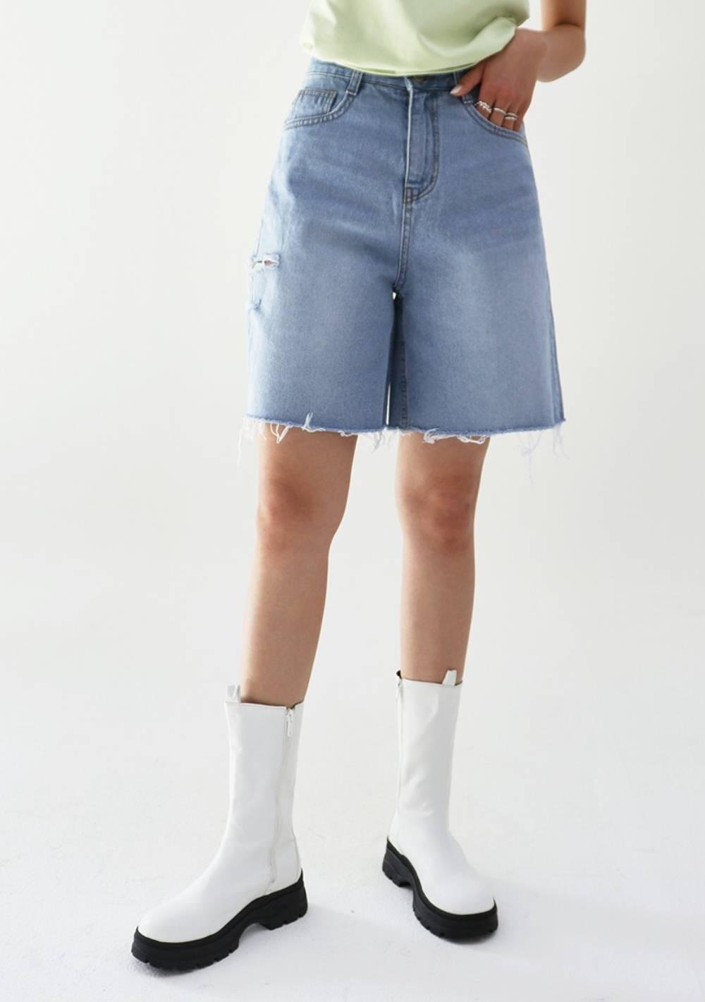 Cutting Denim Shorts