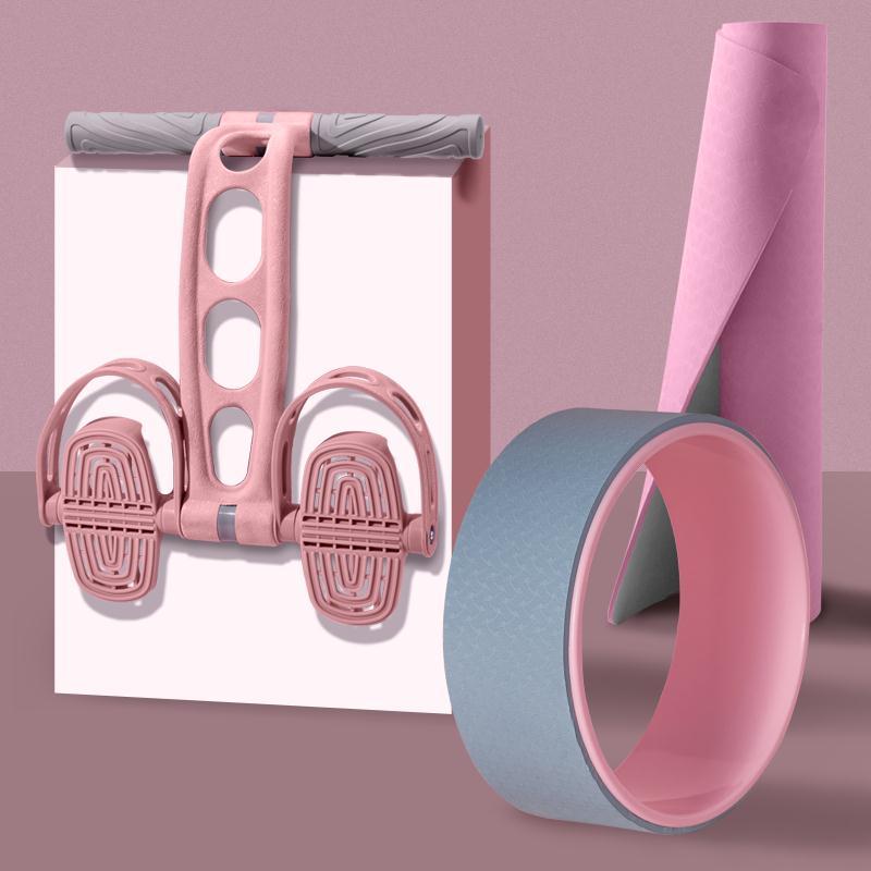 腳蹬拉力器 腳蹬拉力器仰臥起坐卷腹輔助器女健身瑜伽器材家用神器【MJ14510】