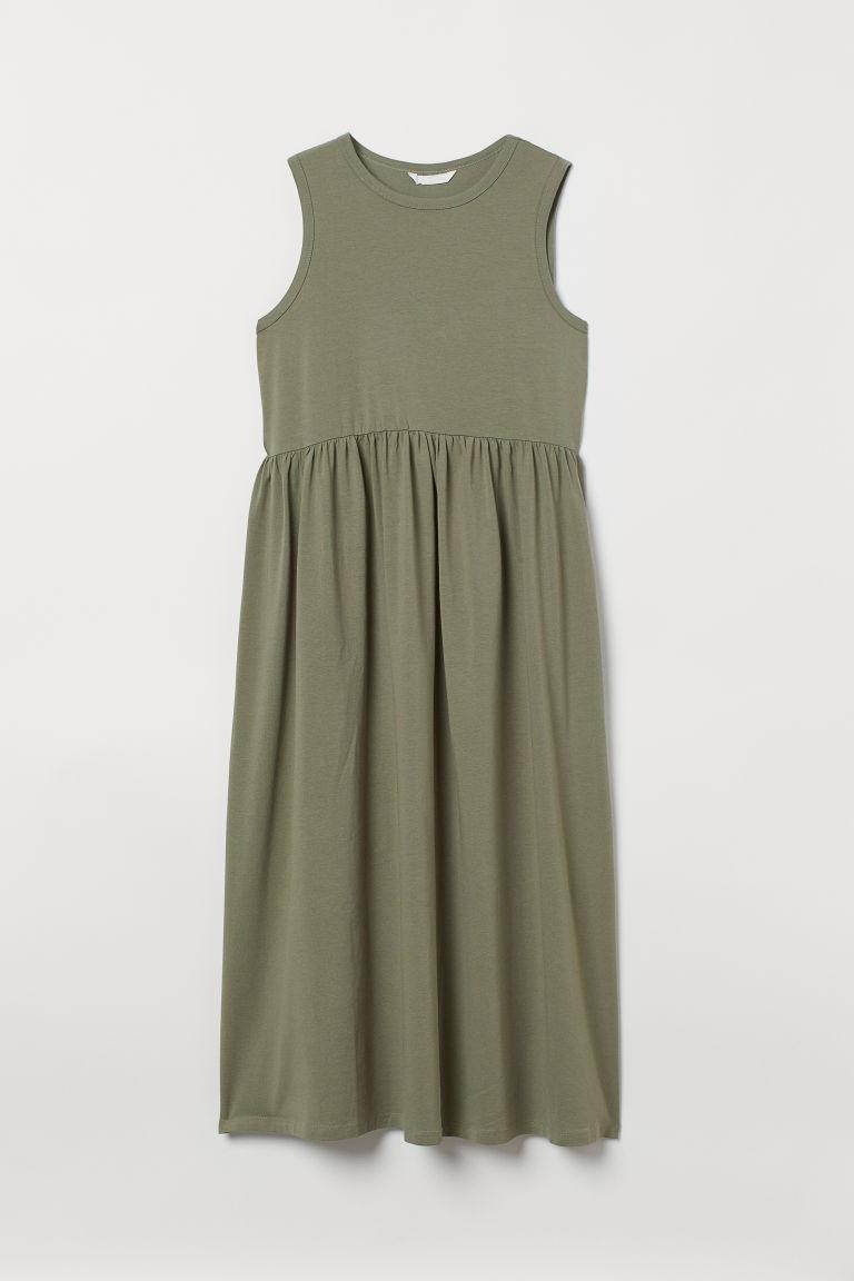H & M - MAMA 背心洋裝 - 綠色