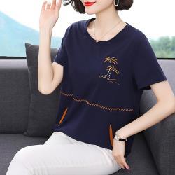 理子時尚-虎紋印花寬鬆休閒連帽上衣M-4XL