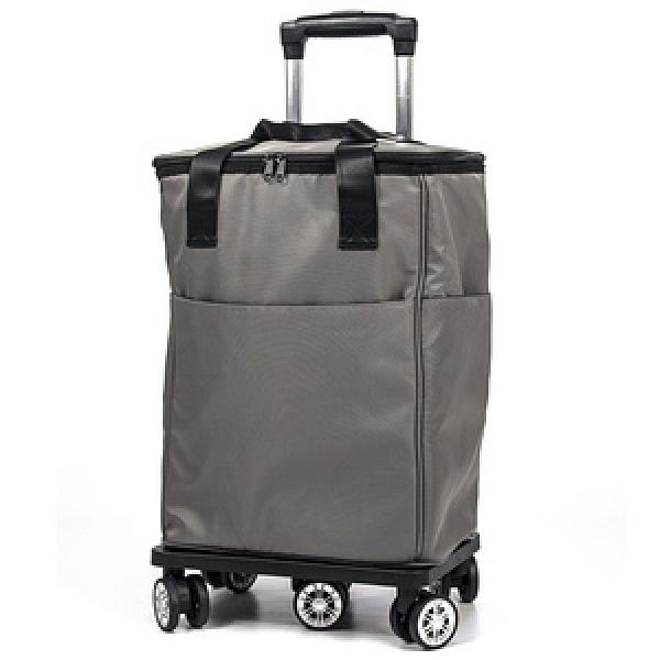 aaronation - 保證超滑順六輪購物拉桿袋 - V5-S218V5-S218-灰