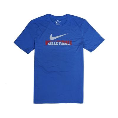 Nike T恤 Volleyball Tee 棉質 男款 運動休閒 吸濕排汗 DRI-FIT 圓領 藍 紅 561416493VB96