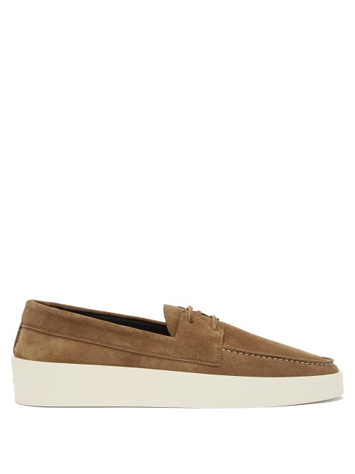 Fear Of God - Suede Boat Shoes - Mens - Brown