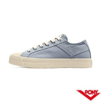 【PONY】Shooter 雙色膠底帆布鞋 女鞋-粉藍