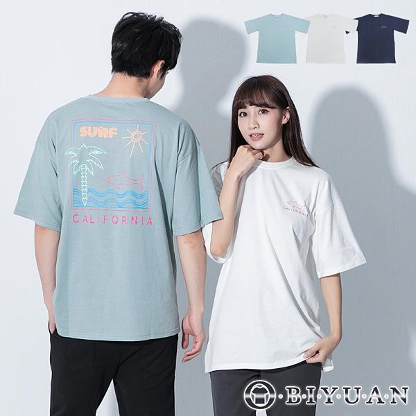 【OBIYUAN】短袖t恤 情侶款 韓國製 鯊魚 塗鴉 衣服 上衣 3色【F09019】