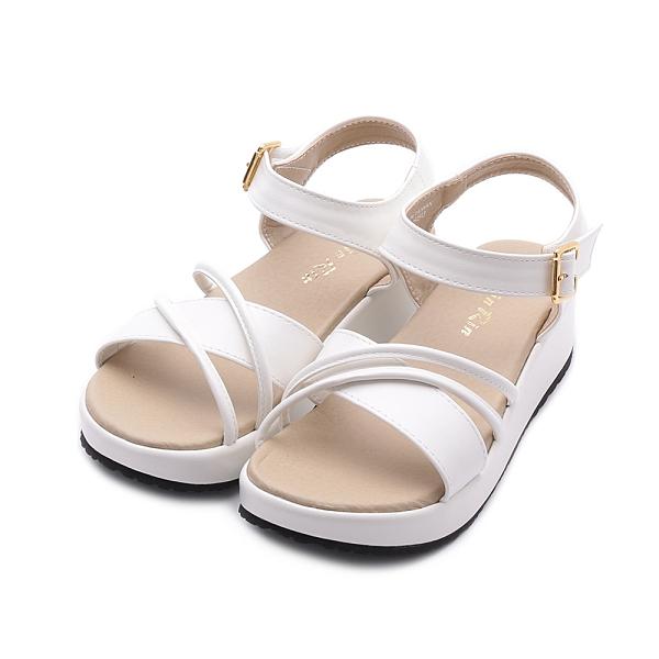 RIN RIN 雙繩楔形涼鞋 白 女鞋