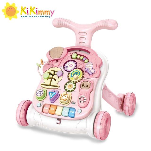 麗嬰兒童玩具館--【kikimmy】寶寶三合一音樂助步車(聲光遊戲盤+遊戲桌+學步車)