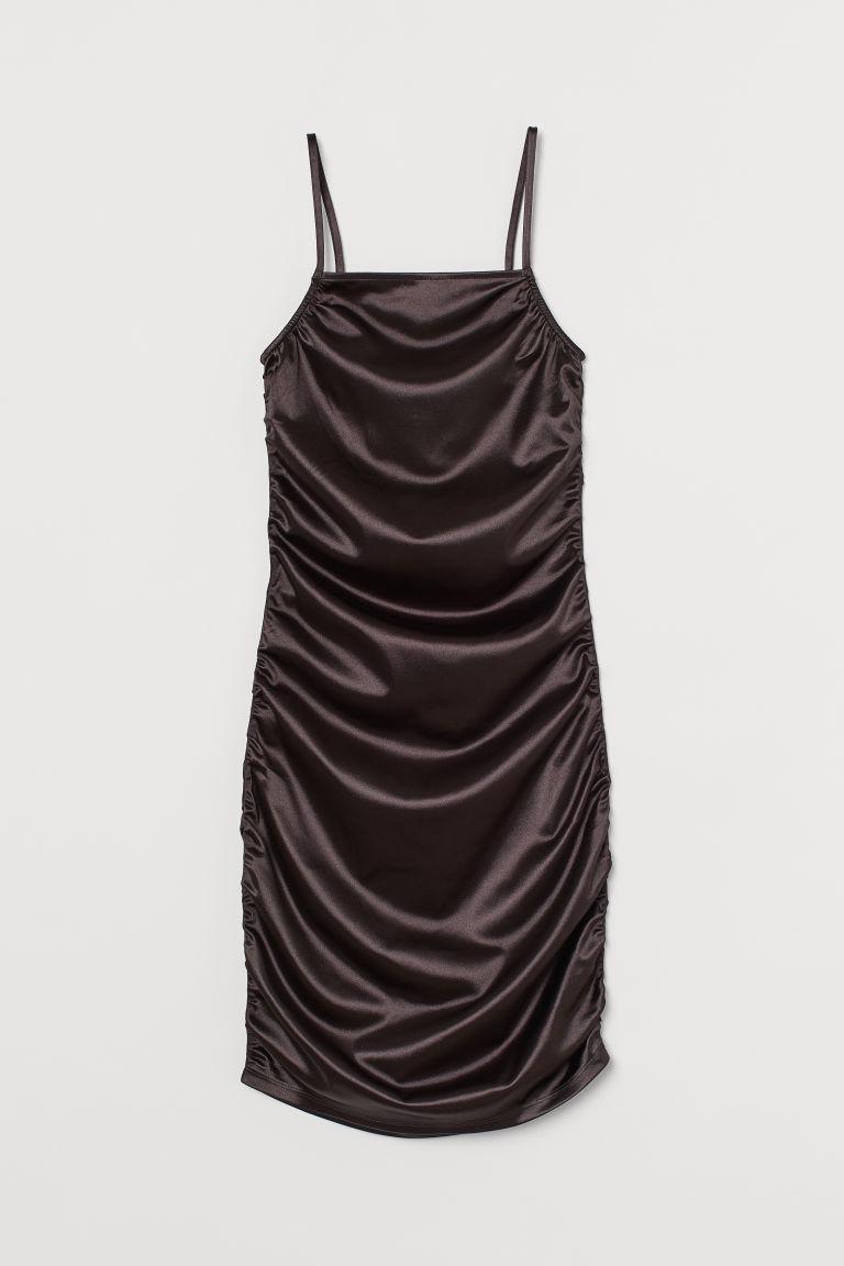 H & M - 閃亮金屬光感洋裝 - 黑色