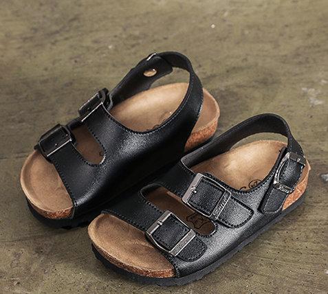 【NikoKids】學步鞋涼鞋/造型涼鞋/黑色/後跟可調整/(NK319)