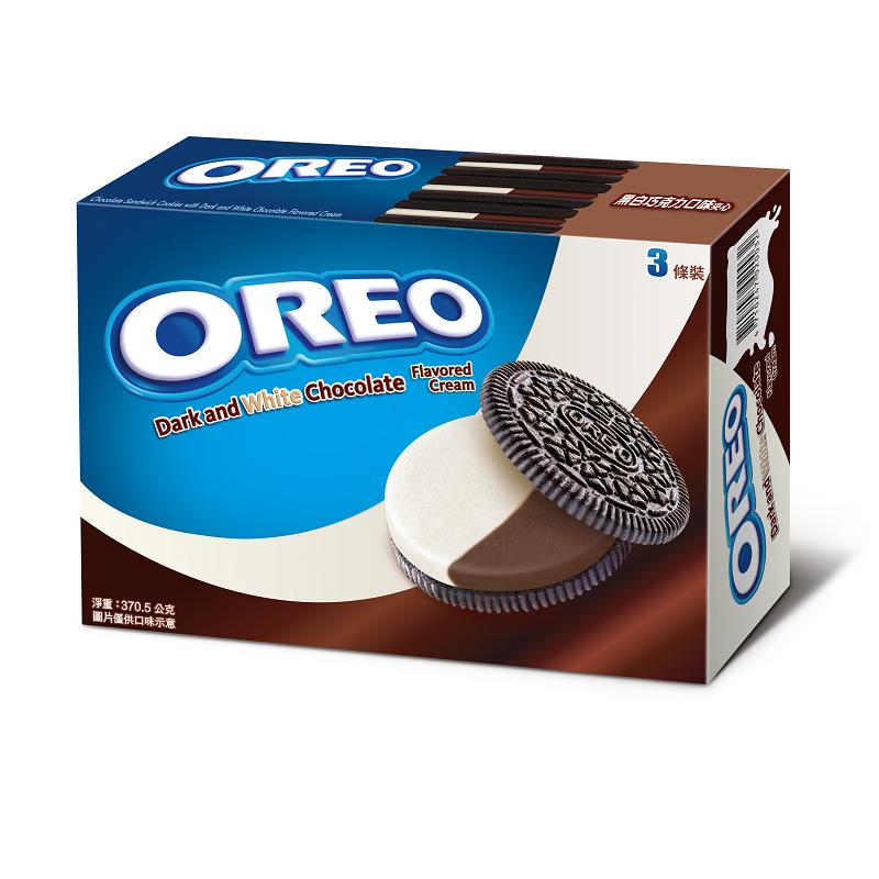 奧利奧黑白巧克力餅乾量販包370.5g