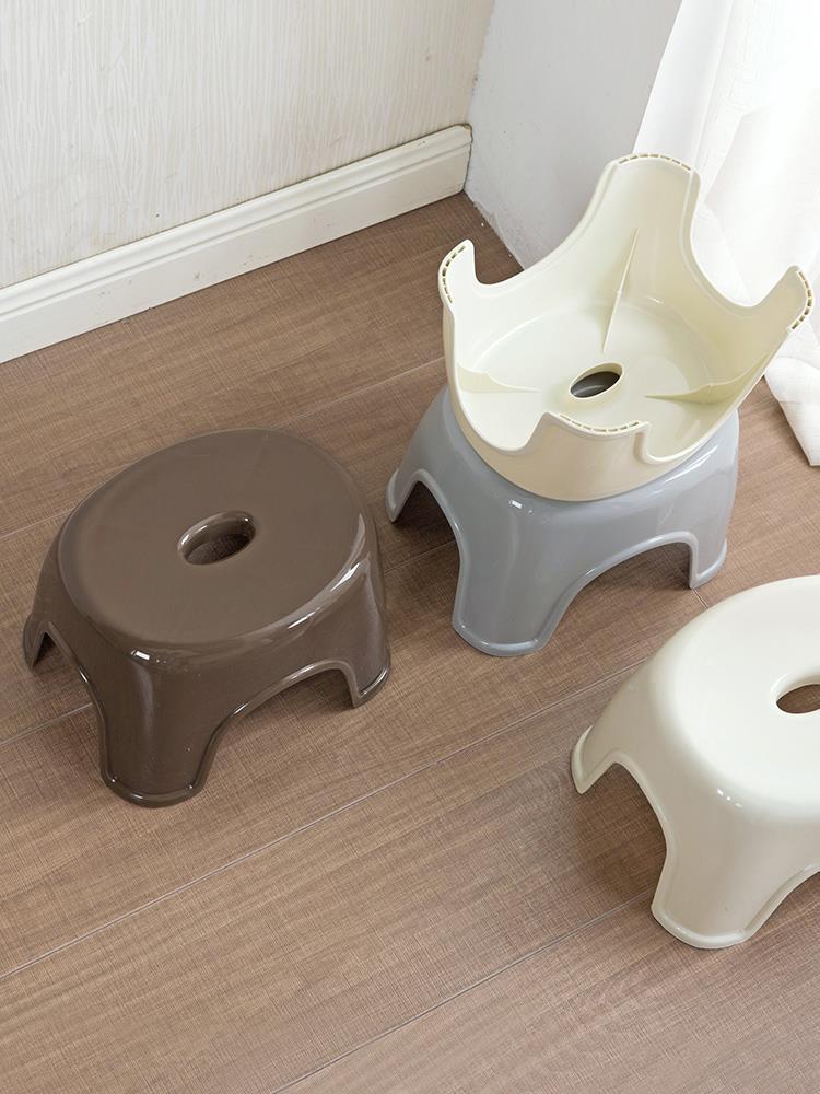 藤巢居家 日式加厚塑料凳子 成人兒童矮凳子 時尚家用客廳換鞋凳