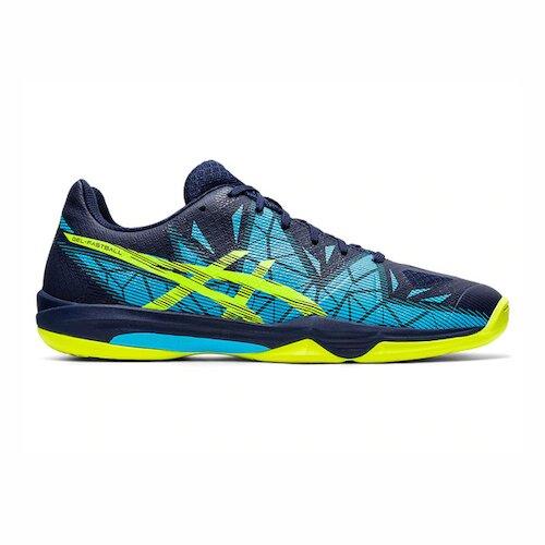 Asics Gel-fastball 3 [THH546-402] 男鞋 羽球鞋 排球鞋 支撐 緩衝 亞瑟士 深藍 螢黃