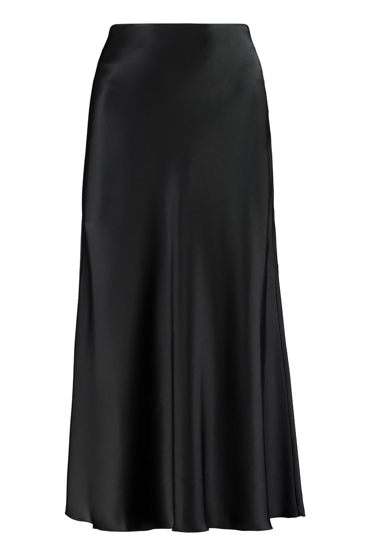 Nanushka Razi Satin Midi Skirt