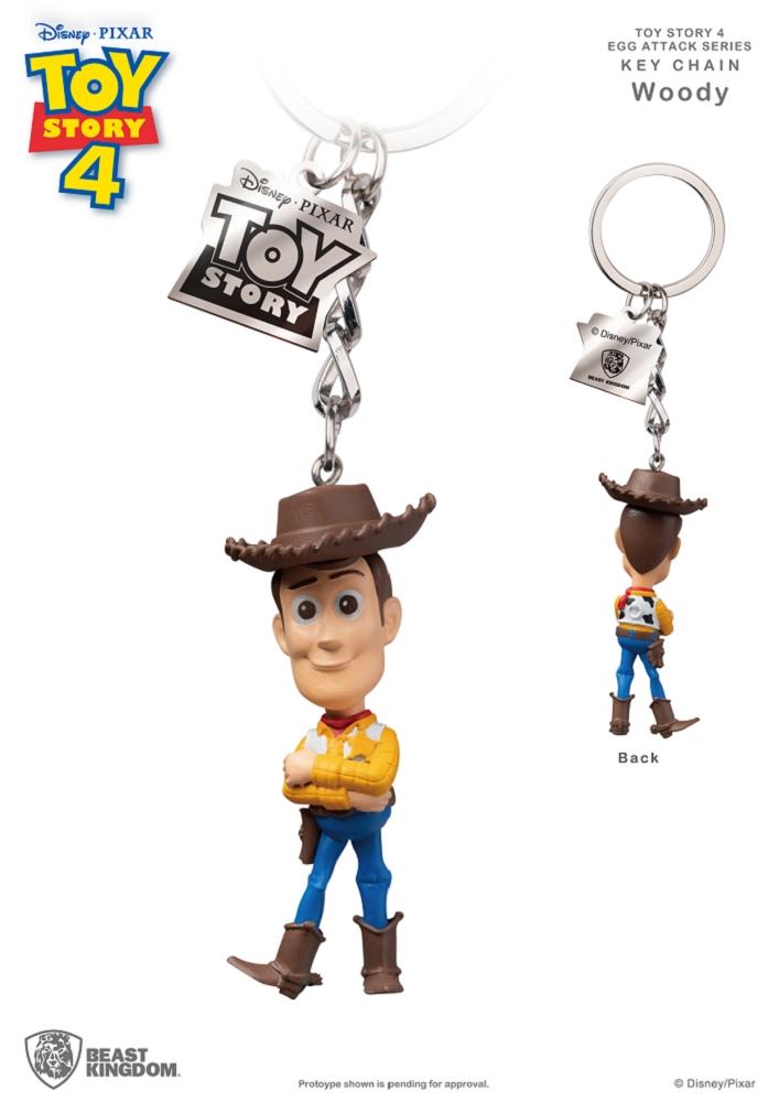 玩具總動員4 蛋擊公仔鑰匙圈系列 胡迪款