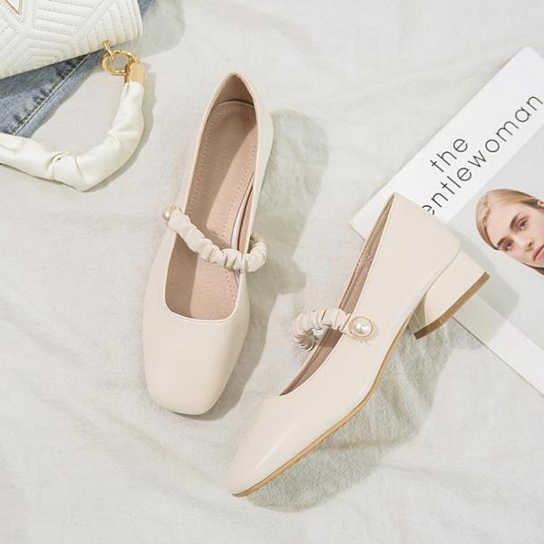 平底鞋 瑪麗珍鞋女復古奶奶鞋2021年新款方頭一字帶淺口單鞋女粗跟女鞋子 618狂歡
