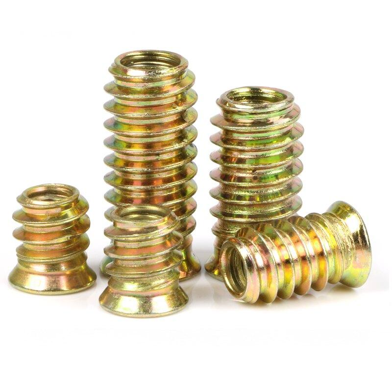 預埋對接牙套鐵合金家具內外牙螺絲螺母套裝自攻梯形加厚持久耐用