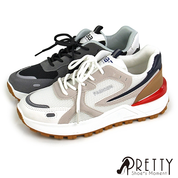 BA-20005 時尚多色拼接綁帶厚底休閒鞋/小白鞋【GREEN PHOENIX】