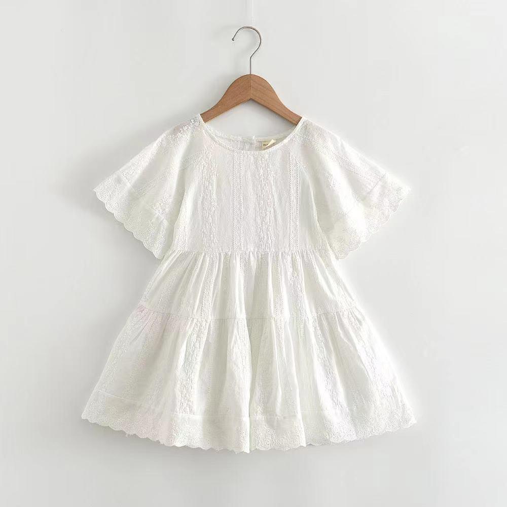 2021新款蕾絲花邊短袖洋裝 上衣