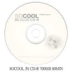 SOCOOL CD-R 80MIN 700MB 100片裝 小狗版 可燒錄空白光碟