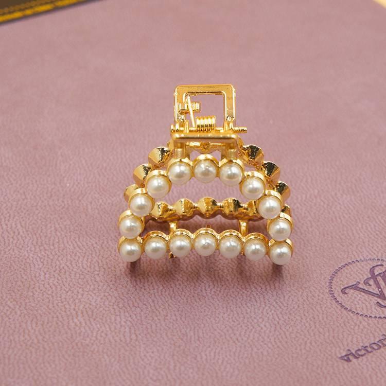 韓國製G&G 三角珍珠小抓夾/造型髮夾/公主夾