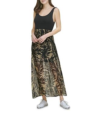 Donna Karan New York Mixed Media Tank Dress