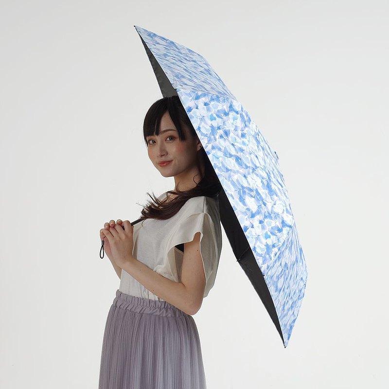 Nifty Colors - 日本遮光花瓣碳輕量迷你摺疊雨傘 - 藍色