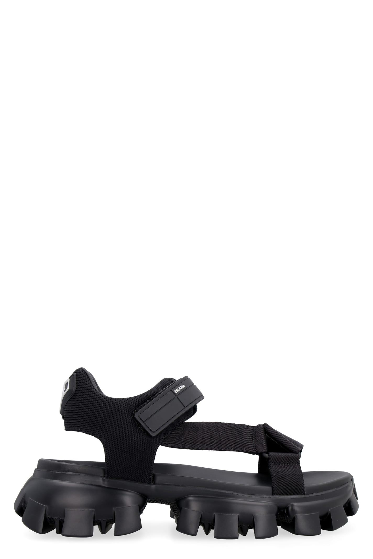 Prada Cloudbust Thunder Sport Style Strap Sandals