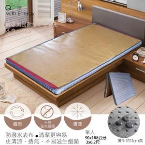 【SuperLife】日系二折彈簧床墊可收納90x186公分 →3x6.2尺