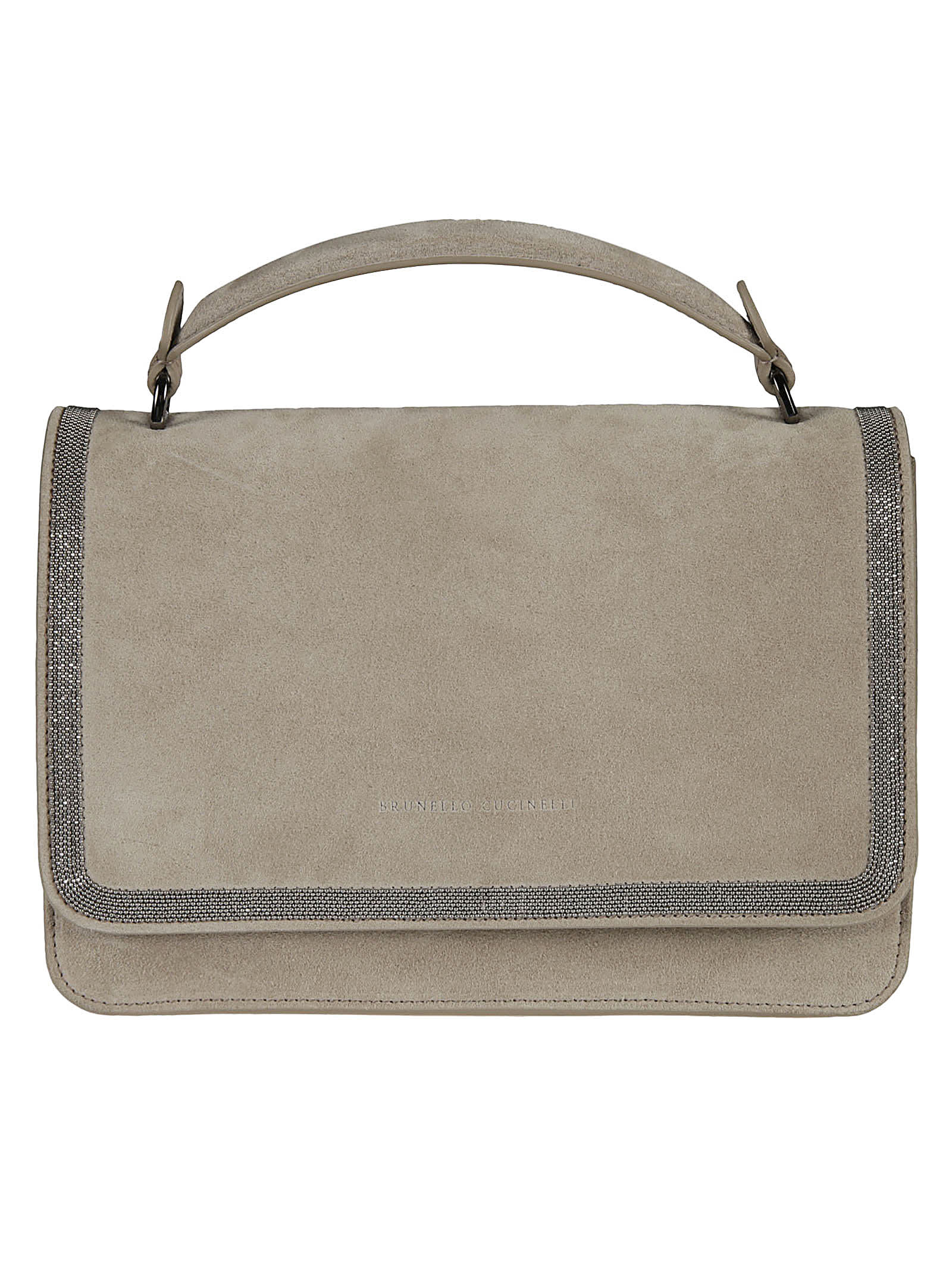 Brunello Cucinelli Bead Embellished Flap Tote