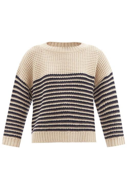 Weekend Max Mara - Arca Sweater - Womens - Cream Navy