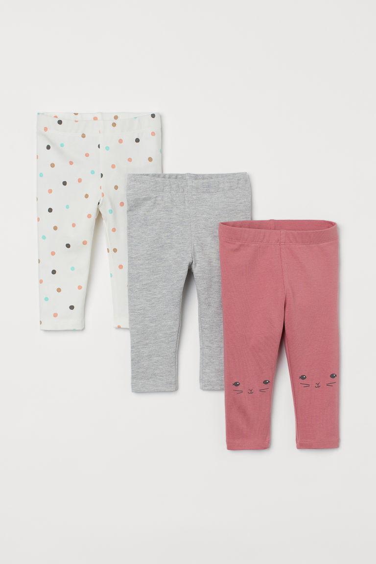 H & M - 3件入內搭褲 - 粉紅色