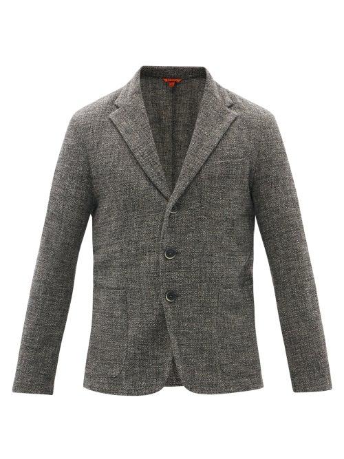 Barena Venezia - Torceo Single-breasted Wool-blend Jacket - Mens - Dark Grey