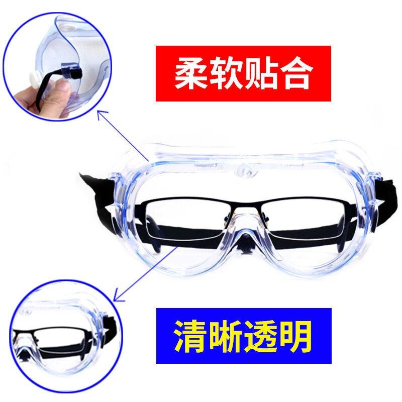 護目鏡高清 防飛沫飛濺男女騎行透明防塵防風沙勞保平光防護眼鏡