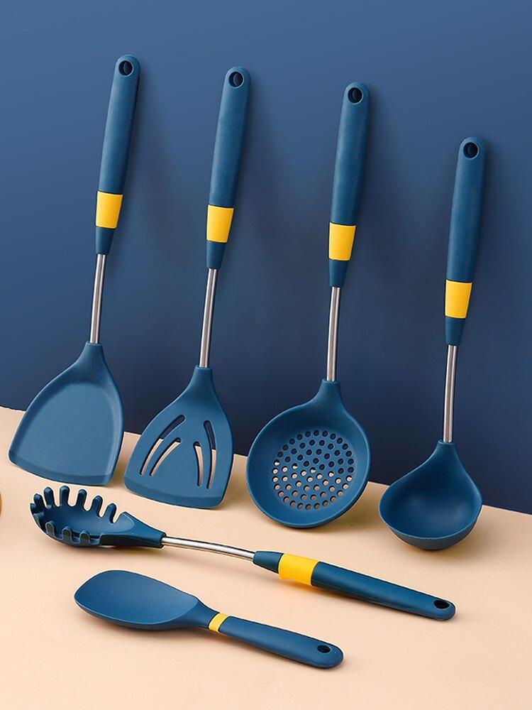 沃德百惠硅膠鏟子不粘鍋專用勺子漏勺炒菜鏟子家用廚具套裝不傷鍋