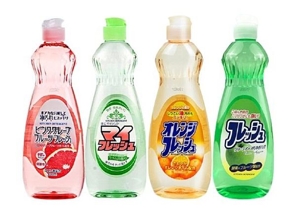 日本【火箭石鹼】多功效洗潔精600ml(檸檬香/橘子香/青蘋果香/葡萄柚香)