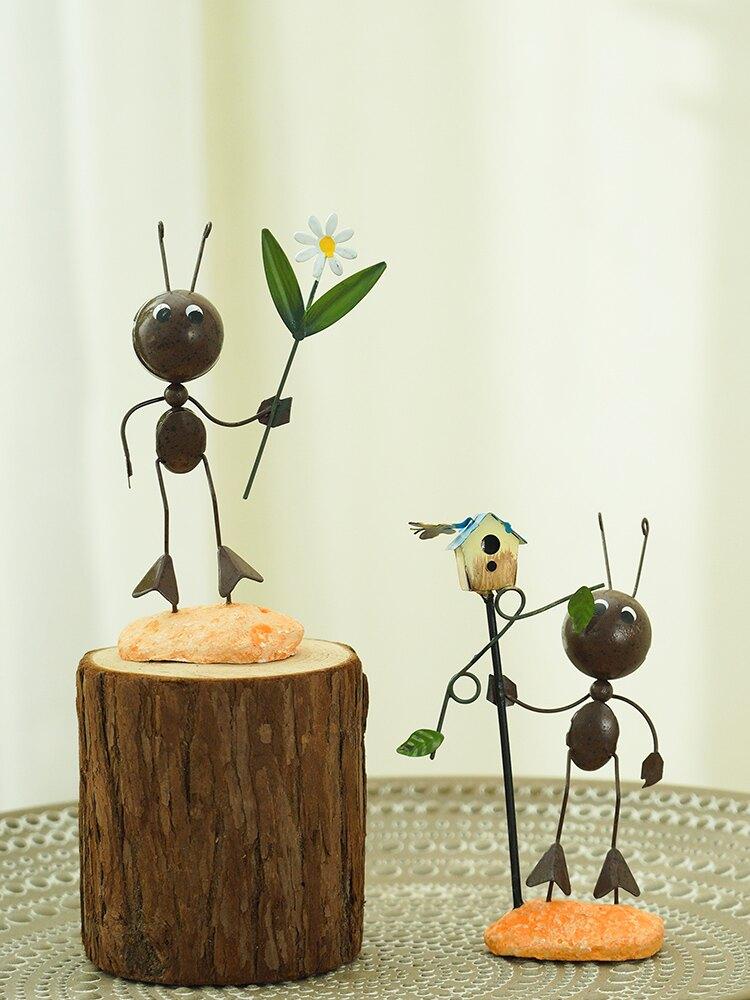創意北歐螞蟻客廳擺件家居裝飾品房間臥室酒柜電視柜玄關小擺設