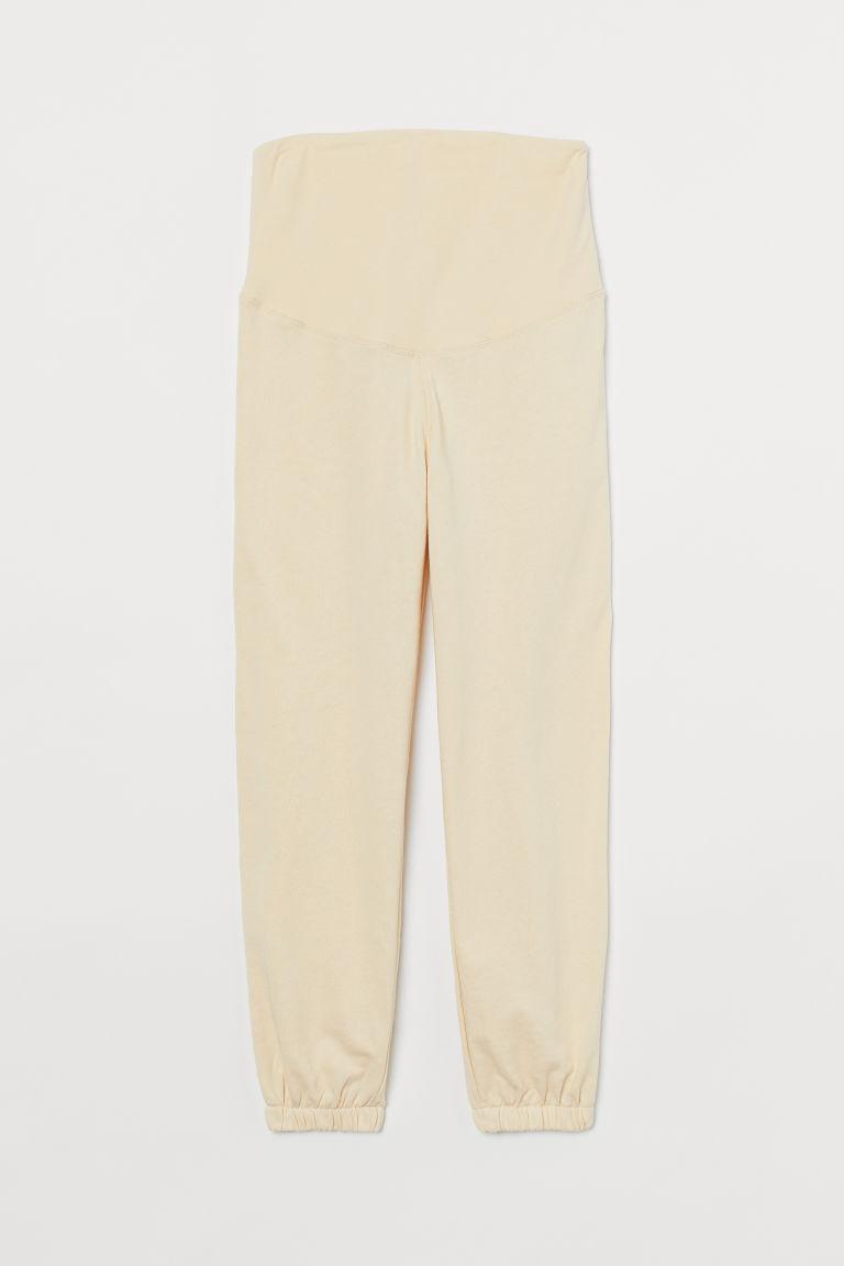 H & M - MAMA 慢跑褲 - 米黃色