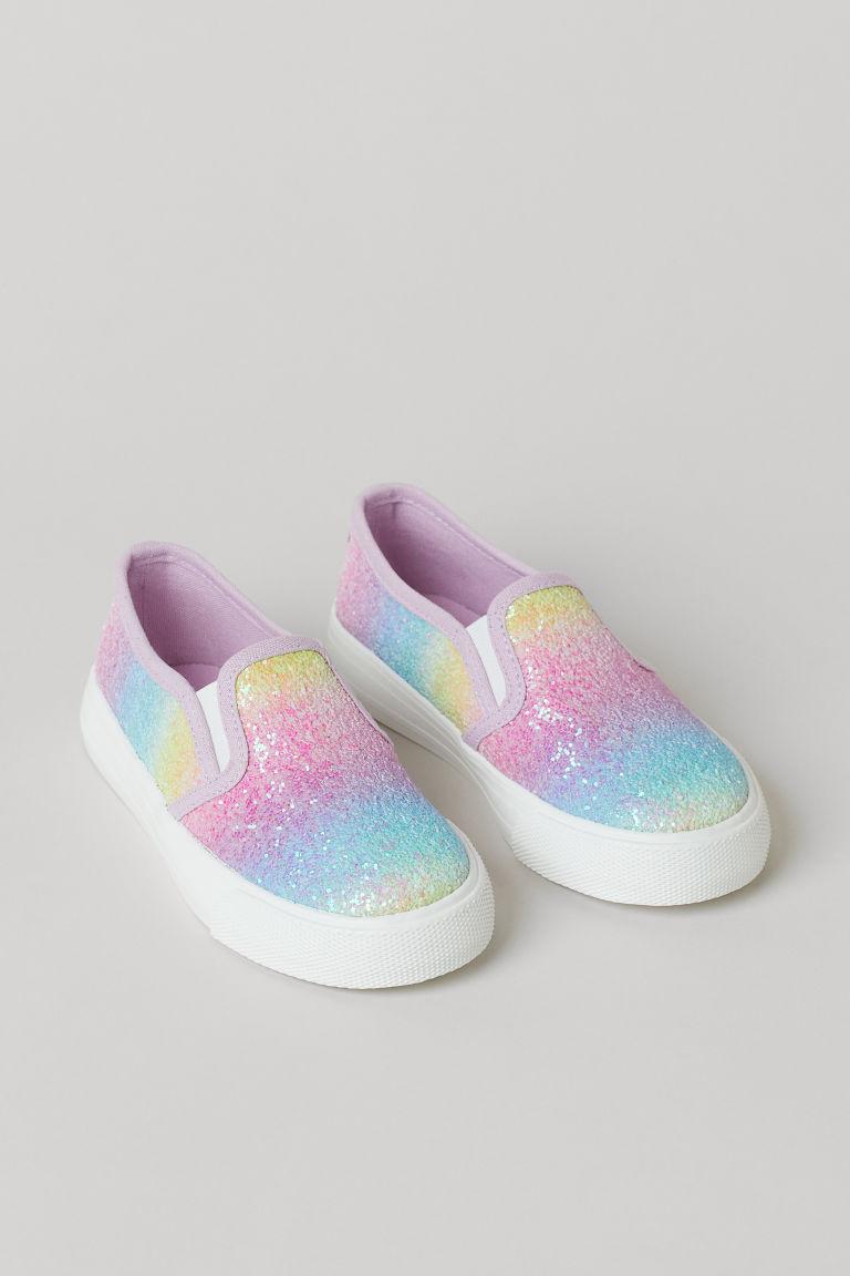 H & M - 亮感懶人鞋 - 紫色