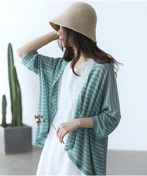 天絲針織開衫防曬空調衫上衣外套六色可選/設計家Y12279