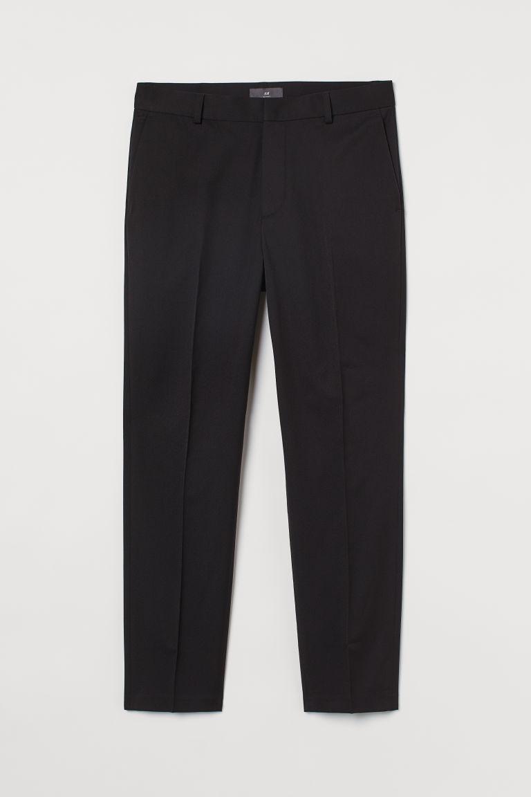 H & M - 貼身九分褲 - 黑色