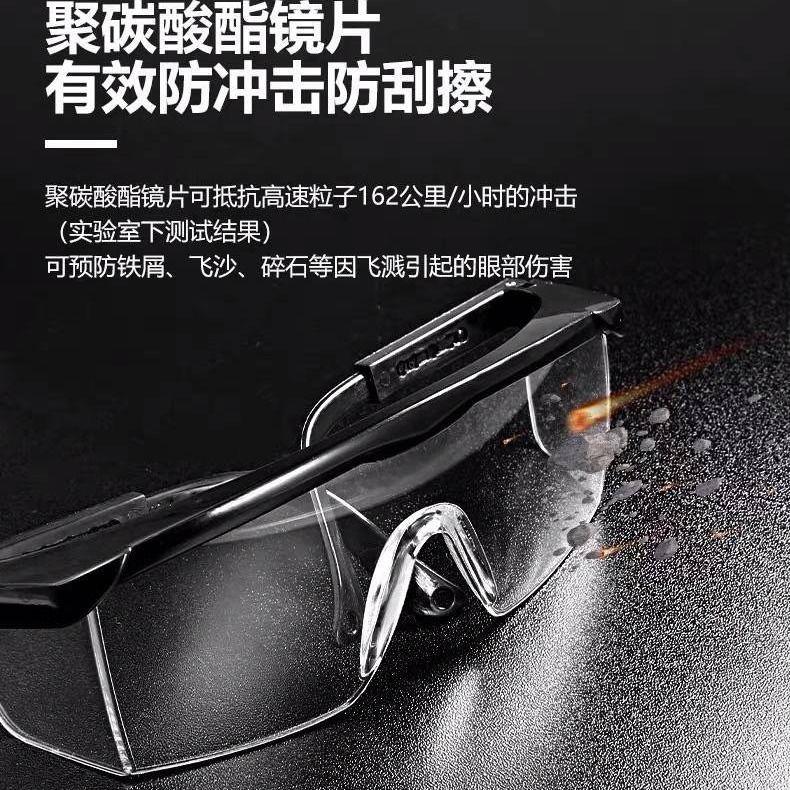 護目鏡防唾液飛濺防塵風沙眼罩透明防護眼鏡學生男女騎行擋風飛沫
