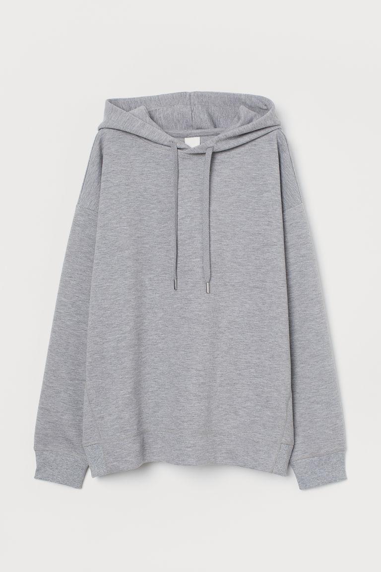 H & M - 加大碼連帽上衣 - 灰色