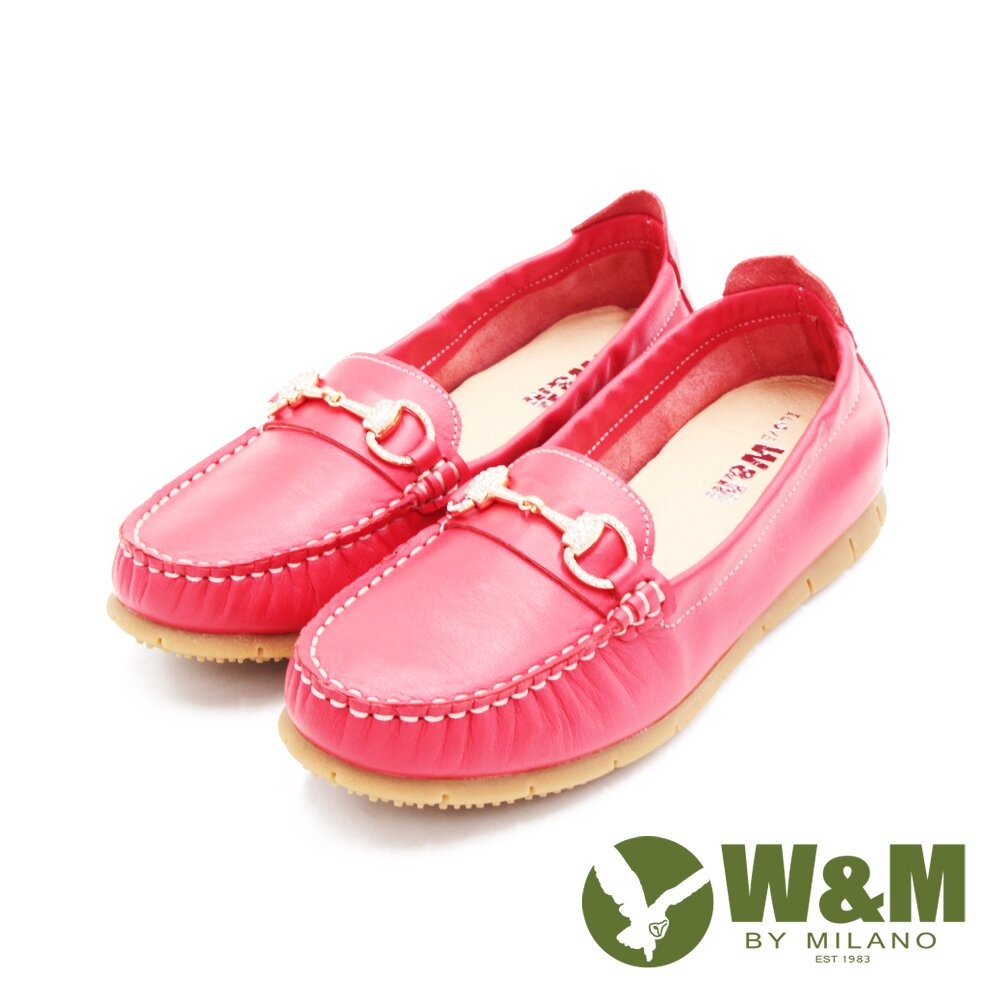 W&M(女)心機內增高馬銜釦樂福鞋 女鞋-淺紅(另有裸粉.深藍)