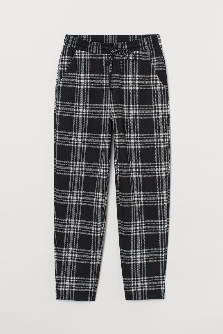 H & M - 平紋長褲 - 黑色