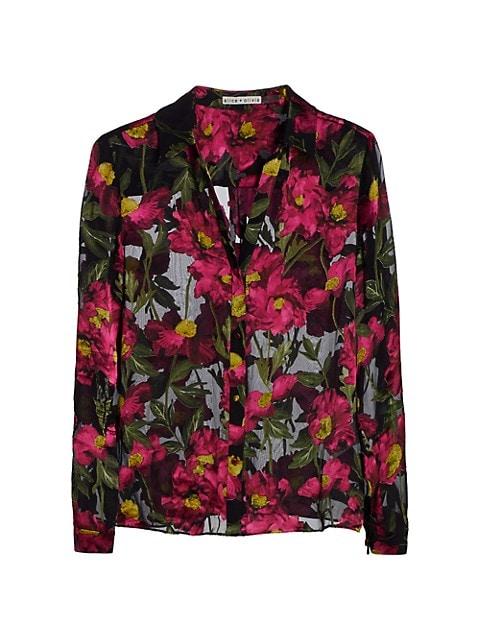 Eloise Burnout Floral Shirt